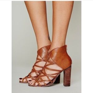 Jeffery Campbell Free People Brown Caged Heels